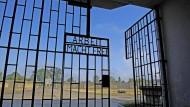 """""""Im Krankenhaus gestorben, das klingt natürlich viel besser als im KZ gestorben"""": Nach Aktenlage starb Juliusz Bursche am 20. Februar 1942 nach Jahren in Sachsenhausen. Das Bild zeigt den Eingang zum KZ."""