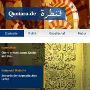 Hat auf Facebook allein zweihunderttausend arabischsprachige Follower: Blick auf die Homepage von Qantara.de