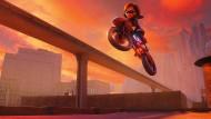 """Nicht im Hühnerstall. Nicht die Oma. Aber, so wahr die Frau Elastigirl heißt: Hauptsache, Motorrad! Szene aus """"Die Unglaublichen 2"""""""