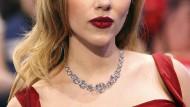 Scarlett Johanssons Mund, mit dem ein Wassersprudler beworben wurde. Das finden die Boykotteure Israels nicht sexy, denn der Hersteller saß viele Jahre auch im Westjordanland.
