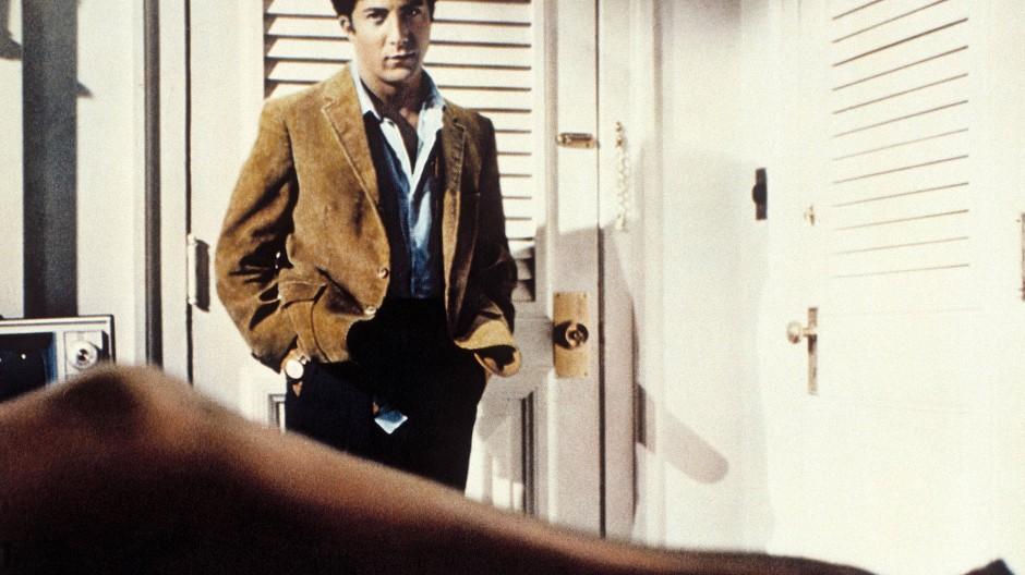 "Die Verfilmung wurde ein Klassiker: Dustin Hoffman als Benjamin in Mike Nichols' ""Die Reifeprüfung"" aus dem Jahr 1967."
