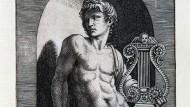"""Ein Objekt von Kristellers Leidenschaft: """"Apollo"""", Kupferstich von Marcantonio Raimondi, um 1512"""