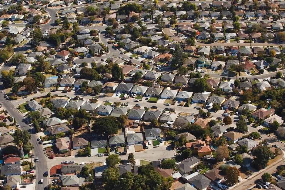 Der scheinbar unendliche Urban Sprawl - hier im kalifornsichen Mountain View.