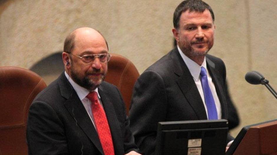 Vor der Knesset: Martin Schulz im israelischen Parlament