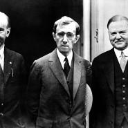 Der Herr in der Mitte gehört eigentlich nicht dazu: Woddy Allen als Zelig zwischen Calvin Coolidge (links) und Herbert Hoover.