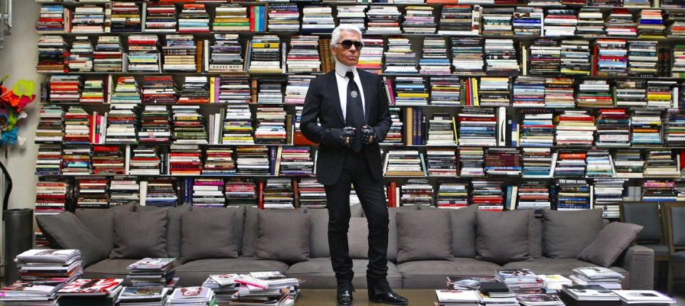 7c6b9aa6ce Karl Lagerfeld und seine umfangreiche Bibliothek