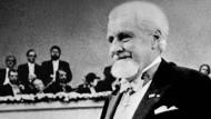 Konrad Lorenz bei der Verleihung des Medizinnobelpreises im Jahr 1973
