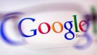 Hier noch mit Querlinien: Das alte Google-Logo.