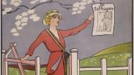 """Poster für die erste Ausgabe der Zeitung """"The Suffragette"""" zwischen 1910 und 1915"""