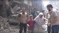 Screenshot eines Handy-Videos aus Syrien