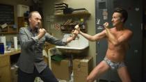 """Wer ist der bessere Schauspieler, Ex-Batman Michael Keaton oder Method-Actor Edward Norton? Alejandro Iñárritu lässt sie in """"Birdman"""" aufeinander los."""