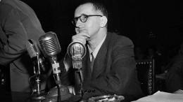 """Thomas Huber liest Bertolt Brecht: """"empfehlung eines langen, weiten rocks."""""""