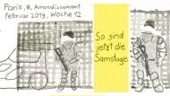 """""""Sie hat sich daran gewöhnt"""": Die deutsche Comickünstlerin Burcu Türker betrachtet das Paris der Gelbwesten aus der Perspektive einer Demonstrantin."""