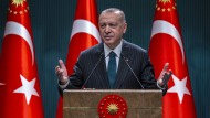 Der türkische Präsident Recep Tayyip Erdogan am 24. August bei einer Ansprache in Ankara