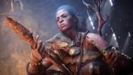 """Mit primitiven Werkzeugen haben es die Spieler von """"Far Cry Primal"""" vielleicht bei der Jagd zu tun, doch schon die Frage nach Verständigung sorgt für Feinheiten."""