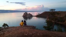 Der Gott des Sees nimmt uns gelassen hin