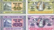 Notgeld in seiner schönsten Form: In den siebziger Jahren gestalteten Kaufhäuser Ersatzgeld in schönster Jugendstilmanier.