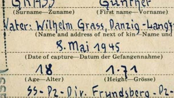 Günter Grass über seine Zeit bei der Waffen-SS