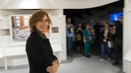Die Leiterin des Georgian National Book Center, Medea Metreveli, im Ehrengast-Pavillon auf der Frankfurter Buchmesse 2018