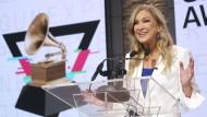 Deborah Dugan bei der Bekanntgabe der Grammy-Nominierungen am 20. November