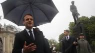 Von oben beschützt: Staatspräsident Emmanuel Macron