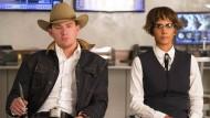 """Channing Tatum und Halle Berry in """"Kingsman: The Golden Circle"""". Cowboyhut und Retrobrille."""