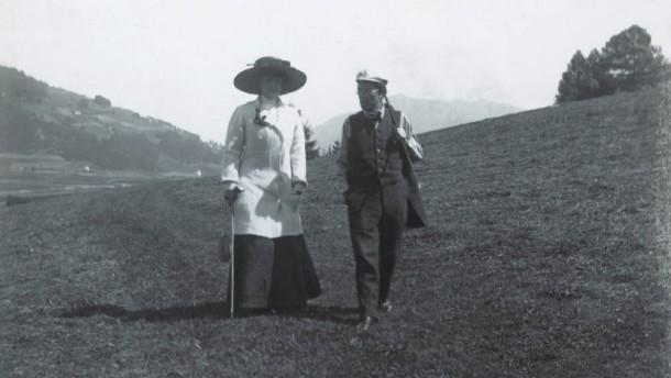 Gustav Mahler und seine Frau Alma