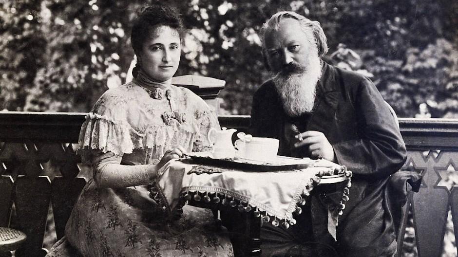 Johannes Brahms mit Adele Strauß in Bad Ischl