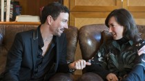 Die Autorin Charlotte Roche und Drehbuchautor und Produzent Oliver Berben beim Interview in Berlin