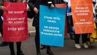 Demonstration gegen die antiisraelische Boykottbewegung BDS (Boykott, Desinvestitionen und Sanktionen) in Göttingen