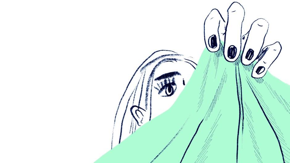 """""""Soll ich mich jetzt schlecht fühlen?"""": Illustration von Anna Gusella aus  Elisabeth Steinkellners Jugendbuch """"Papierklavier""""."""