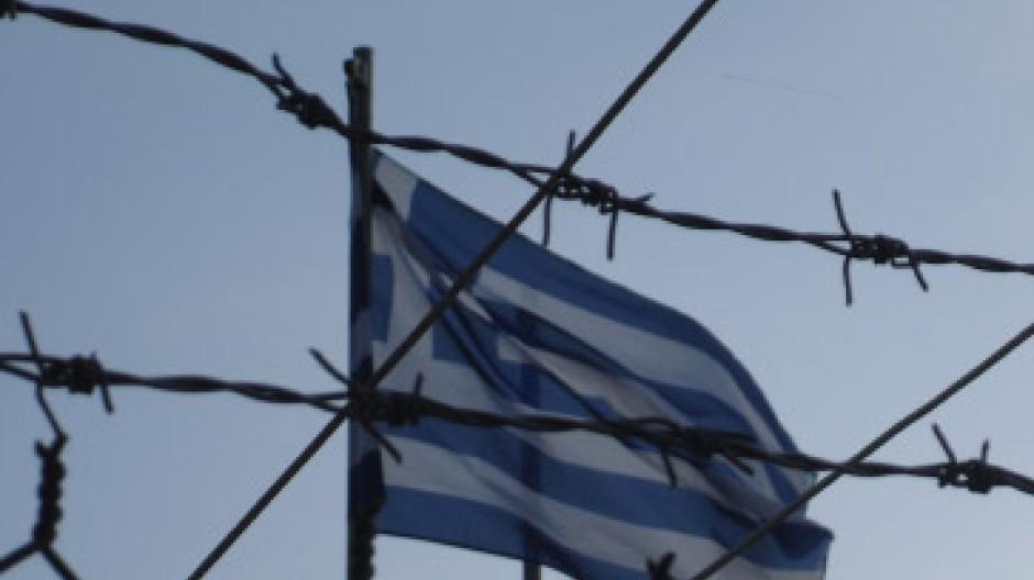 Festung Europa: Die griechische Flagge über dem Auffanglager Fylakio