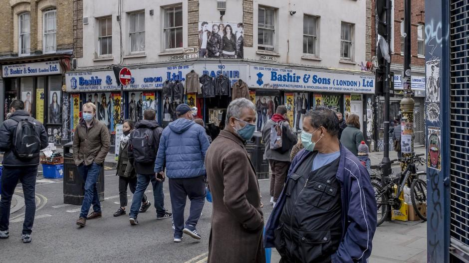 Der Brick Lane Market in London