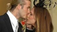 Er war schon im Jahr 2003 dran, sie musste bis zur neuesten Liste warten: Das Haus Beckham erwartet seinen zweiten Orden.