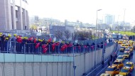 Gegen Uber: Taxi-Proteste vor dem Gericht in Istanbul