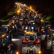 Bauern aus dem Münsterland sind am Samstag mit ihren Traktoren nach Telgte gefahren, um gegen die Agrarpolitik der Bundesregierung zu protestieren.