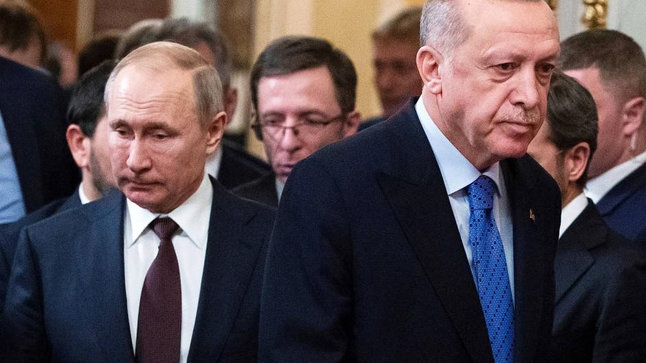 Putin und Erdogan bei einem Treffen in Moskau im März 2020