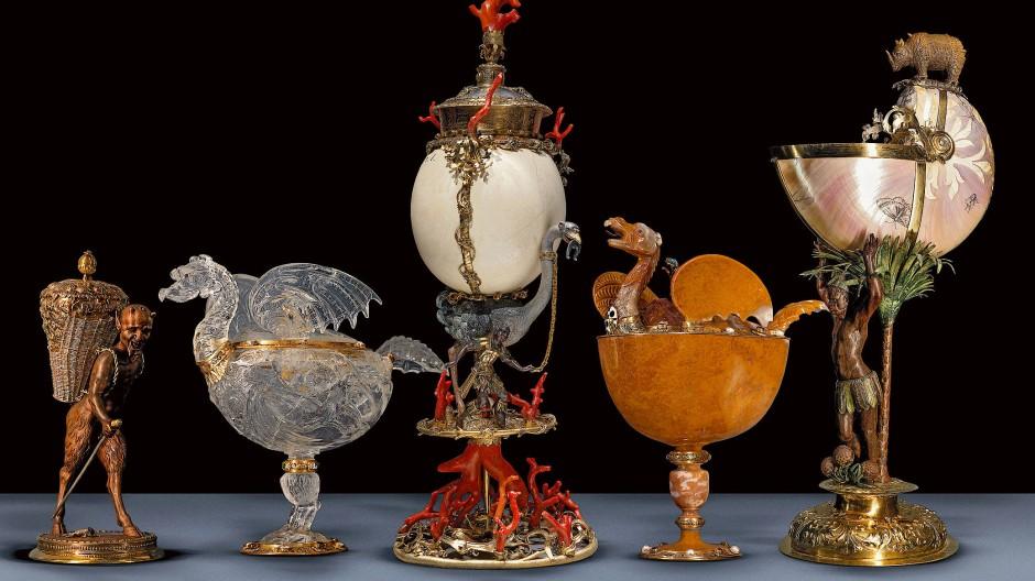 Filiogranes Verwirrspiel zwischen Kultur und Natur: Nautiluspokale gehören zum Standardinventar einer Wunderkammer.