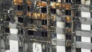 Ausgebrannt: Der Grenfell-Tower in London ging in kurzer Zeit in Flammen auf.