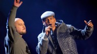 Kool Savas (links) und Xavier Naidoo beim Bundesvision Song Contest 2012