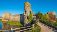 Hier verschanzten sich vor 1500 Jahren die keltischen Briten von Kent: die Mauern des Römerkastells Anderitum, heute Pevensey Castle
