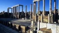 Leptis Magna in Trümmern: Die Überreste der antiken Stadt in Libyen.
