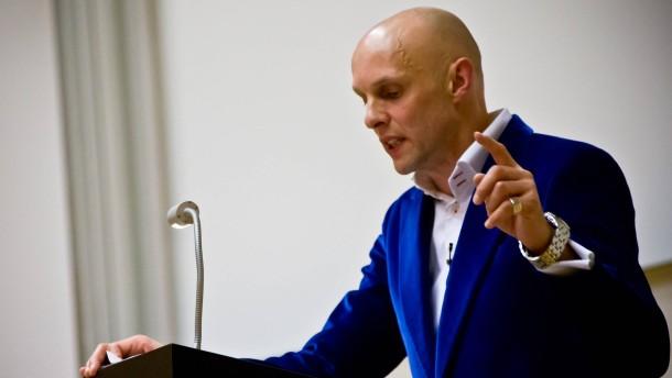Michael Lentz - Der Dichter und Schriftsteller hält die Frankfurter Poetikvorlesung auf dem Universitätscampus Westend.