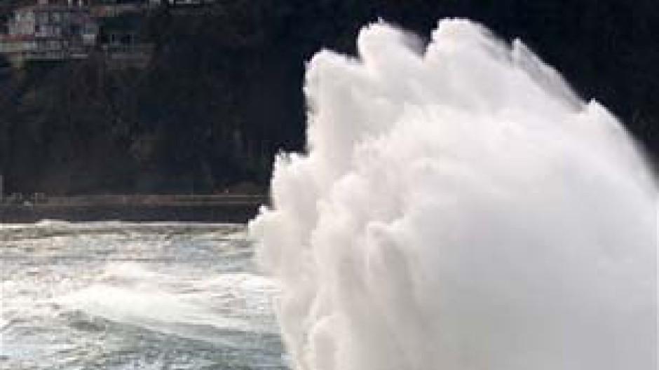 Die Gewalt der Natur könnte sich bald vervielfachen (San Sebastian, Februar 2006)
