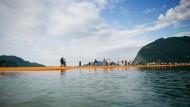 Ansturm auf den Stegen: Der Iseo-See am frühen Samstagmorgen