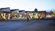 """Mit dem Street-Art-Fries """"¡Viva Beethoven!"""" – als Teil einer großen Werbekampagne, versuchte die Elbphilharmonie in Hamburg, dem Druck der Straße zu begegnen"""