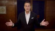 Inakzeptable Gedankenspiele: Heinz-Christian Strache bei seinem Video-Statement.