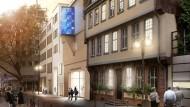 Aber die blaue Erkernase sehn' ich mich zu erblicken: Christoph Mäcklers Entwurf für das Romantik-Museum.