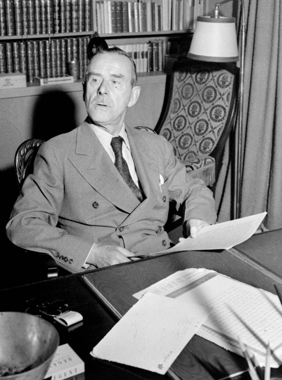 Thomas Mann im Oktober 1942 in Los Angeles.