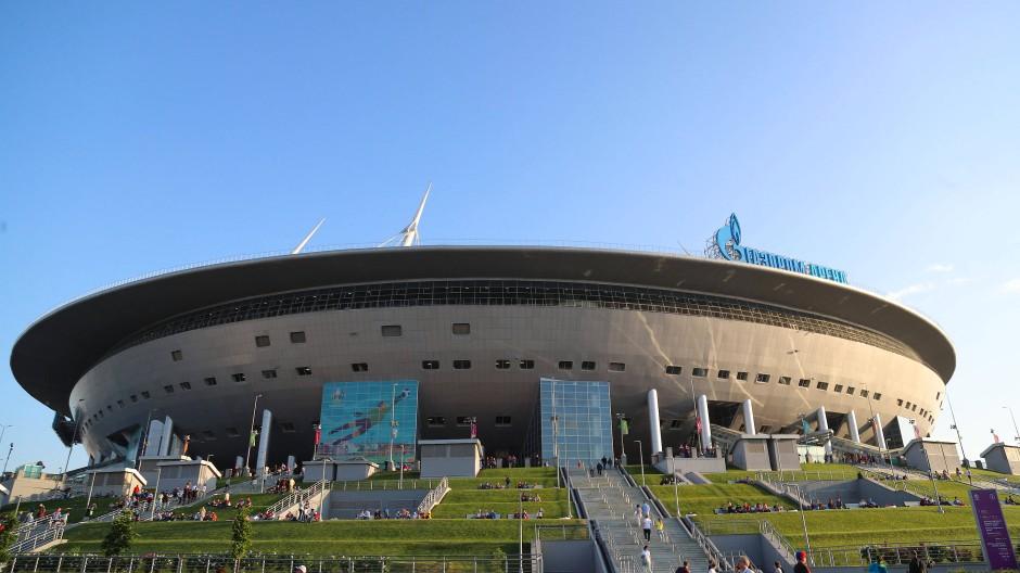 Zunächst war der ARD-Journalist Robert Kempe hier ausgeschlossen: EM-Stadion in St. Petersburg.